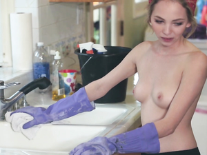 Perky Tits Cleaning Girl Fucked By His Big Dick