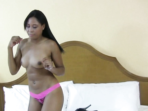 Black Teen Cunt Is Totally Soaked For White Dick