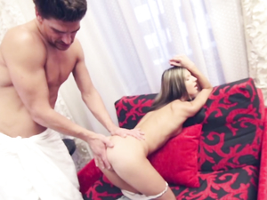 Tiny Slut And A Big Man Have Great Hardcore Sex