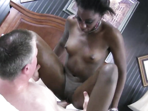 Small Titty Black Amateur Loves The White Dick