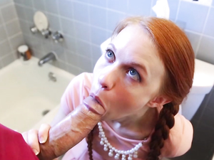 Cock Looks Huge Fucking This Tiny Teen Redhead