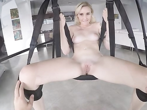 POV Sex Swing Adventures With A Beautiful Young Blonde
