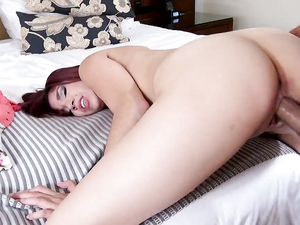 Creaming Her Teen Cunt And Filming The Cum Leaking Out