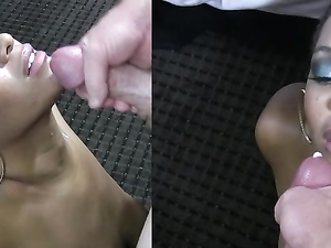 Slamming Cunt Of A Curvaceous Black Slut And Cumming