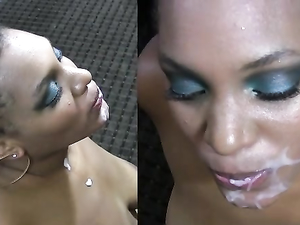 Slamming Cunt Of A Curvaceous Black Slut And Cumming
