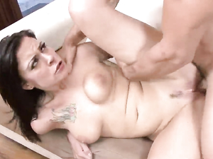Big Butt Babe Drops On His Cock And Rides It Hardcore
