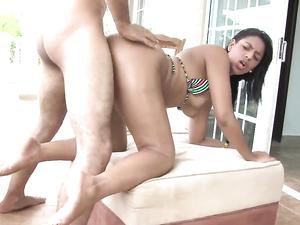 Poolside Sucking And Fucking With A Latina Bikini Babe