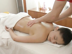 Naughty Massage Makes Her Teen Pussy Soaking Wet