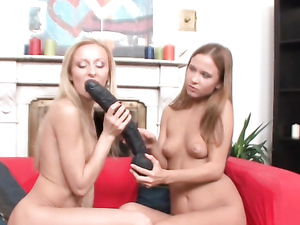 Lesbian Tit Fondling Excites The European Cuties