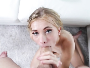 Lubed Young Lady Spreads Wide And Takes Big Dick