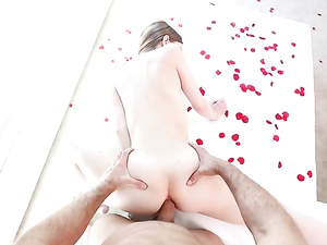 Romancing His Lady And Fucking Her Tight Ass