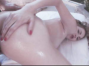 Oiled Angel Smalls Anally Fucked By A Big Dick