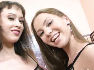 Dildo Loving Teen Lesbian Spreads For A Big One