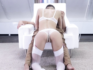 Crotchless Panties Sex With His Hot Lingerie Girlfriend