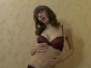 Breathtaking Lean Teen Body In A Striptease Scene