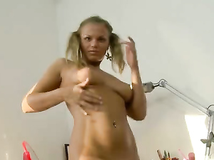 Anal Teen Spreads And Fucks Her Booty With A Dildo