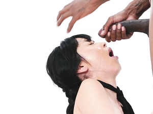 Adorable Asian Girl Banged By A Gigantic Ebony Dick