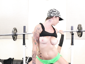 Fit Tattooed Slut Fucked After A Good Workout