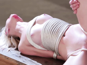 Tiny Slut In Bondage And Messy Lipstick Fucked Hardcore